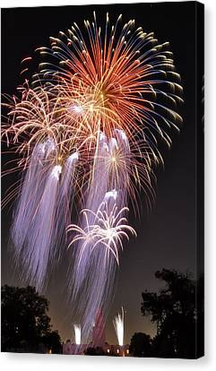 Pyrotechnic Canvas Print - Twilight Jellyfish by Kevin Munro
