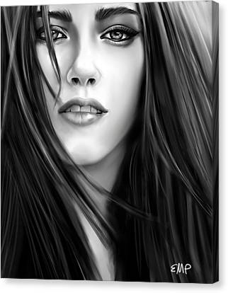 Twilight-kristen Stewart Canvas Print by Lisa Pence