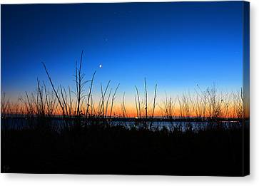 State Of Rhode Island Canvas Print - Twilight Moment by Lourry Legarde