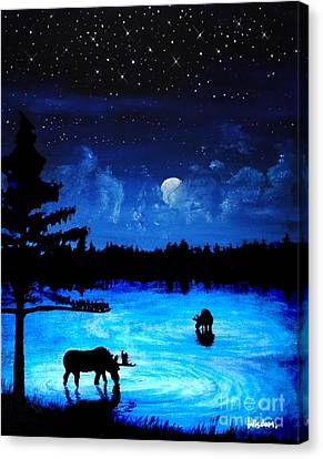 Twilight Moose Canvas Print by Tylir Wisdom