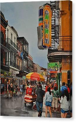 Twilight On Bourbon Canvas Print