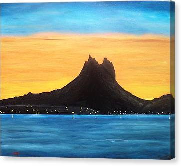 Twilight On San Carlos Sonora Canvas Print by Jorge Cristopulos