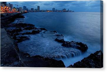 Twilight On The Malecon Canvas Print