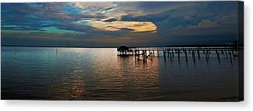 Twilight On The Neuse River Canvas Print by John Harding