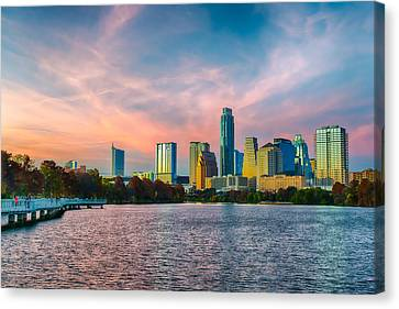 Twilight Over Austin  Canvas Print by Tod and Cynthia Grubbs