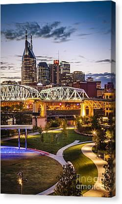 Twilight Over Nashville Canvas Print by Brian Jannsen