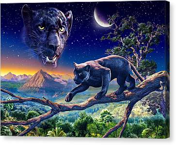 Twilight Panther Canvas Print by Adrian Chesterman