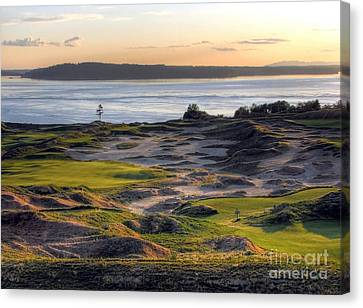 Canvas Print featuring the photograph Twilight Paradise - Chambers Bay Golf Course by Chris Anderson