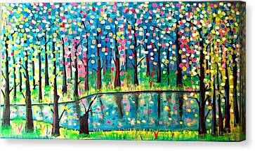 Twilight Pond Canvas Print