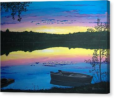 Twilight Quiet Time Canvas Print by Norm Starks
