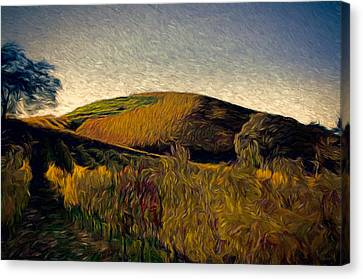 Sonoma County Canvas Print - Twilight Rows by John K Woodruff