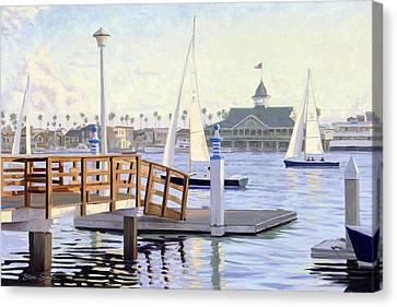 Twilight Sail Canvas Print by Steve Simon