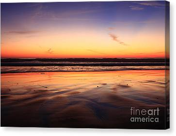 Canvas Print featuring the photograph Cardiff By The Sea Glow by John F Tsumas