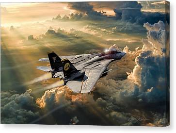 Fighter Canvas Print - Twilight Tomcatter by Peter Chilelli