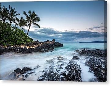 Twilight Waves At Secret Cove Canvas Print by Pierre Leclerc Photography
