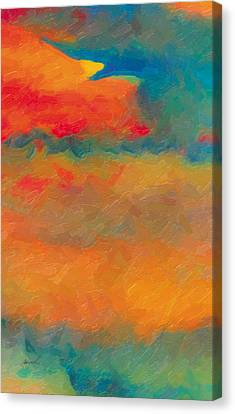 Canvas Print featuring the painting Twilight Whispers by The Art of Marsha Charlebois