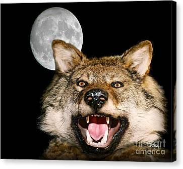 Twilight's Full Moon Canvas Print by Patrick Witz