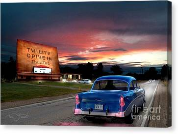 Twilite Drive In  Canvas Print