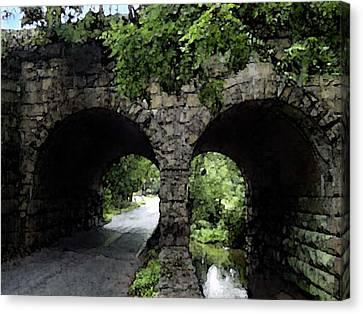 Twin Arch Bridge Canvas Print by Darlene Freas