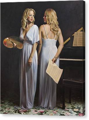 Twin Arts Canvas Print by Anna Rose Bain