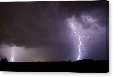 Twin Bolts Canvas Print by John Crothers
