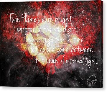 Twin Flames Canvas Print by Absinthe Art By Michelle LeAnn Scott