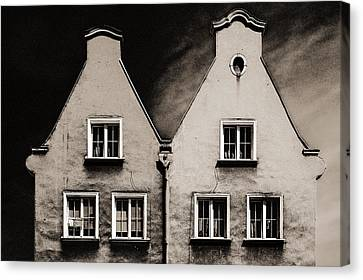 Twin Houses Canvas Print
