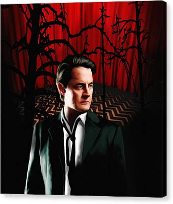 Canvas Print featuring the painting Twin Peaks  Dale Cooper by Jeff DOttavio