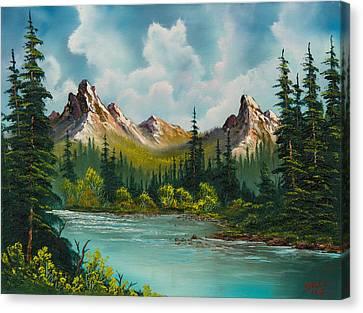 Twin Peaks River Canvas Print by C Steele
