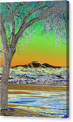 Twin Peaks Winter Portrait View Solarized Canvas Print by James BO  Insogna