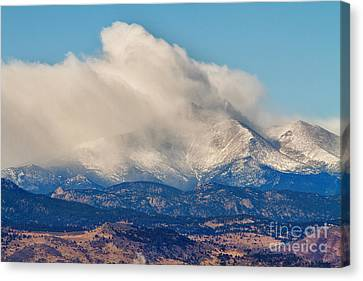 Twin Peaks Winter Weather View  Canvas Print by James BO  Insogna