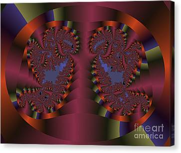 Twin Swans Fractal Abstract Canvas Print