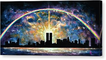 Twin Towers Live Again Canvas Print by Thomas Kolendra