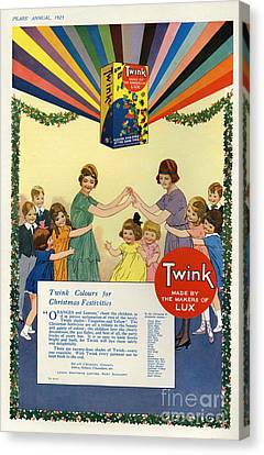 Twink 1923 1920s Uk Cc Lux Washing Canvas Print by The Advertising Archives