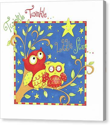 Twinkle Twinkle Little Star Canvas Print by P.s. Art Studios