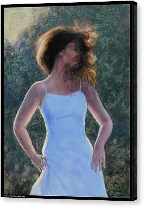 Twirly Girl Canvas Print
