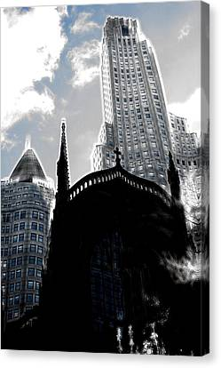 Twisted City Canvas Print by Mark J Dunn