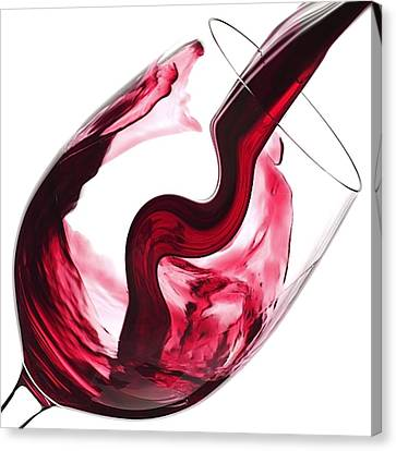 Twisted Flavour Red Wine Canvas Print by ISAW Gallery
