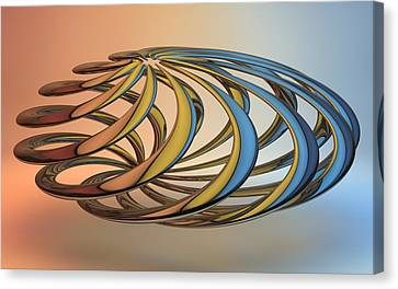 Louis Ferreira Art Canvas Print - Twisted Reflections by Louis Ferreira