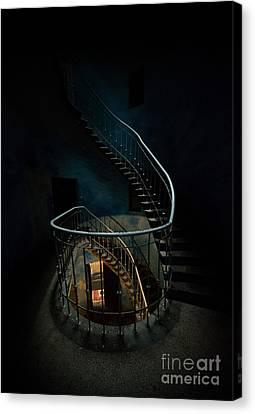 Twisted Staircase Canvas Print by Jaroslaw Blaminsky