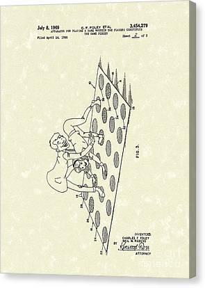 Game 1969 Patent Art Canvas Print