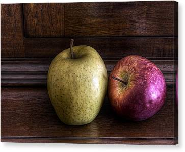 Two Apples Canvas Print by Leonardo Marangi