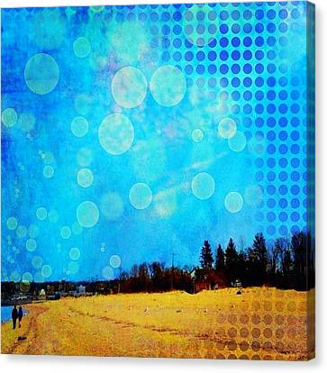 Landscape Canvas Print - Two At Twilight #instaphoto #altered by Robin Mead