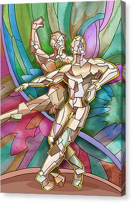 Two Ballet Dancers Canvas Print