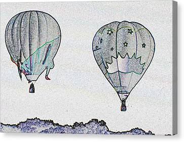 Two Balloons  Canvas Print