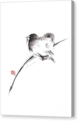Sparrow Canvas Print - Two Birds Minimalism Artwork. by Mariusz Szmerdt