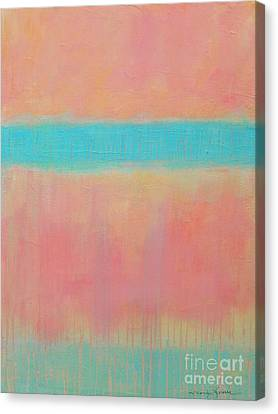 Two Blue Lines Canvas Print by Kate Marion Lapierre