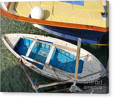 Canvas Print featuring the photograph Two Boats by Mike Ste Marie