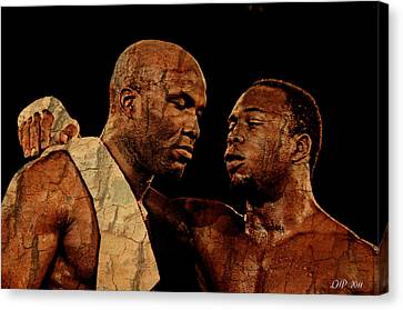 Two Boxers Canvas Print by Lynda Payton