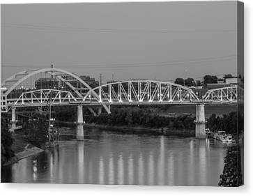 Canvas Print featuring the photograph Two Bridges by Robert Hebert